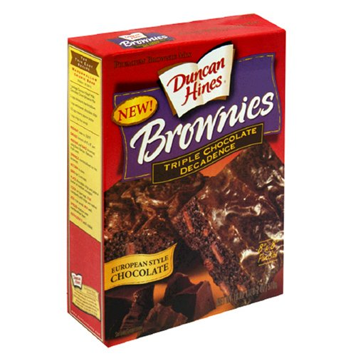 Buy Duncan Hines Brownies Mix, Triple Chocolate Decadence, 18-Ounce Boxes (Pack of 12) (Duncan Hines, Health & Personal Care, Products, Food & Snacks, Baking Supplies, Baking Mixes, Brownie Mixes)