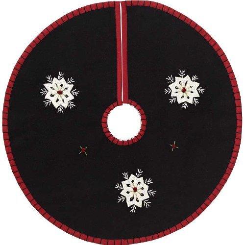 Christmas Snowflake Mini Tree Skirt Felt Embroidered 21