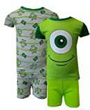 Disney Pixar Monsters Inc Mike 4 piece Combo Toddler Pajamas for boys