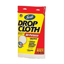 Kimberly-Clark Scott 11587 Hydroknit Fabric All-Purpose Disposable Drop Cloth, 20\' Length x 4\' Width, White