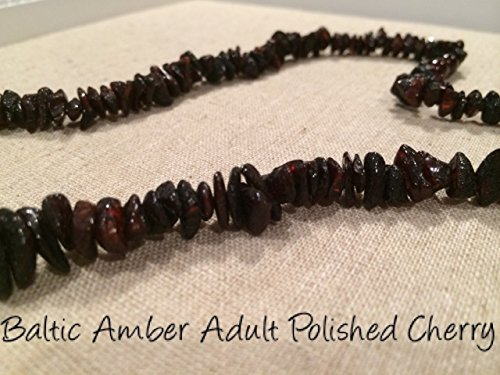 Baltic Amber Necklace for Adults Polished Cherry