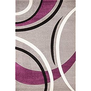 SonaLux Tappeto design moderno handwoven argento Seleziona la taglia 120 x 170 cm   recensioni