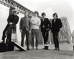 ブロマイド写真★ザ・ローリング・ストーンズ The Rolling Stones/5人/白黒/橋の下
