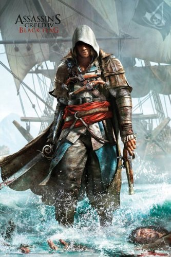 MoviePostersDirect - Maxi poster, soggetto: Assassins Creed 4 (Shore), 61 cm x 91,5 cm