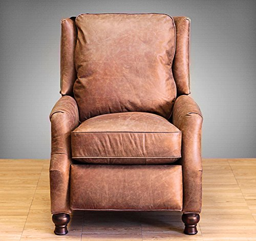Barcalounger Ashton II Leather Recliner Havana Brown Leather/Espresso Wood Legs (Espresso Leather Recliner compare prices)