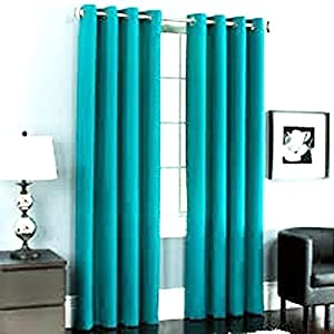 Gorgeous Home 60 1 Panel Solid Turquoise Blue Thermal Lined Foam Blackout Heavy