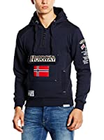 Geographical Norway Sudadera con Capucha Sweat (Azul Marino)