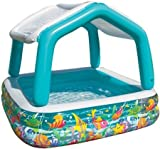 Intex Sun Shade Inflatable Pool, 62' X 62' X 48', for Ages 2+