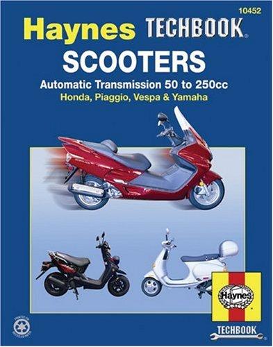 scooters-service-and-repair-manual-automatic-transmission-50-to-250cc-honda-piaggio-vespa-yamaha-hay