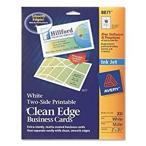 amazoncom avery twoside printable clean edge business