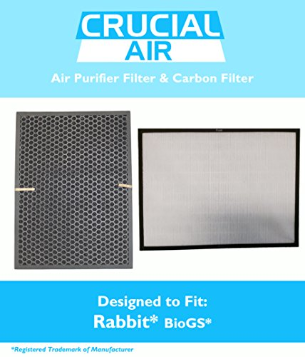 Air Filter & Carbon Filter Kit Fits Rabbit BioGS / BioGP SPA-421A & SPA-582A, Designed & Engineered by Crucial Air