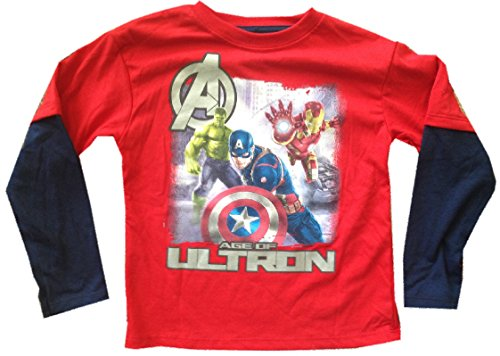 AVENGERS - Age Of Ultron - Captain America, Iron Man, Hulk - Longsleeve Kids T-shirt
