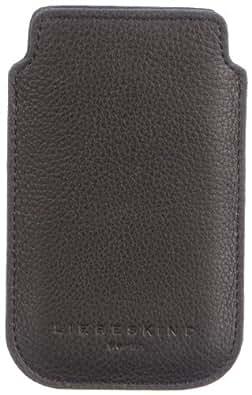 Liebeskind Berlin Mobile2 2D leather, Damen Handyhülle für iPhone 3 & 4, Schwarz (black), 8x13x1 cm (B x H x T)