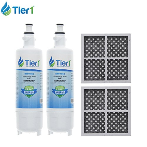 LG LT700P & LT120F Comparable Refrigerator Water & Air Filter Combo 2 Pack