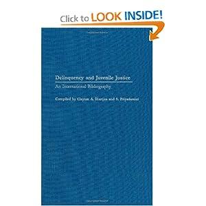 Juvenile Delinquency Bibliography | RM.