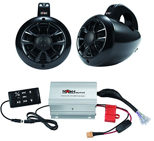 NOAM NUTV4 - Marine Bluetooth ATV / Golf Cart / UTV Speakers Stereo System (Atv Radio System Can Am compare prices)