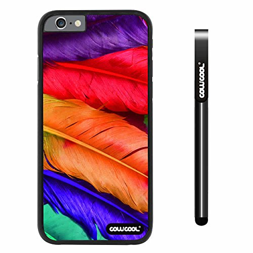 Cowcool® Apple Iphone 6 4.7 Inch Case Hard Pc Perfect Birds Feathers Black Shell Single Layer Protective Case (#5)