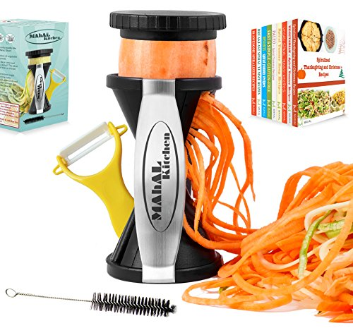 Spiral Slicer Spiralizer Complete Bundle - 9 Recipe