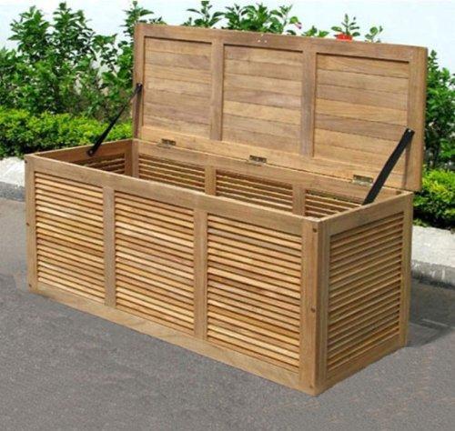 Auflagenbox Lamellenbox Akazienholz FSC Edelstahlbeschläge Aufbewahrungsbox online bestellen
