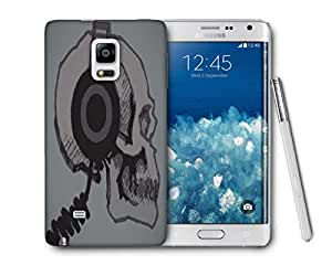 Snoogg Skull With Headphones Printed Protective Phone Back Case Cover For Samsung Galaxy NOTE EDGE