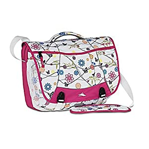High Sierra Tank Pack Messenger Bag Bird on Wire/Cerise