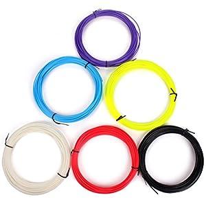 Sunwin 6pcs 23g/pcs Red Black Blue White Yellow Purple 3d Filament 1.75mm Abs 3d Print Ink for 3d Printer Pen Pack of 6 from Sunwin