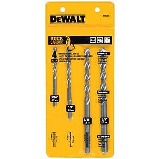 DEWALT DW5204 4-Piece Premium Percussion Masonry Drill Bit Set