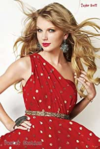 "Taylor Swift ""Red Dress""- Cute Country Music - Music Poster - Rare New - Image Print Photo"