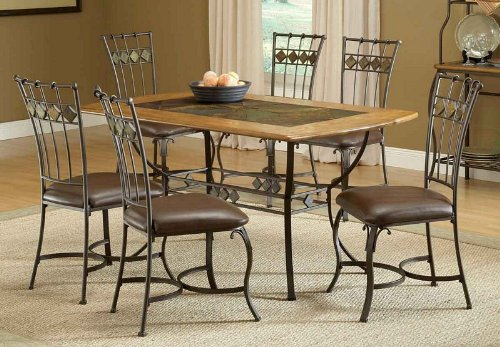 Buy Low Price Hillsdale 5pc Parson Dining Table And Chairs Set With Faux Marb