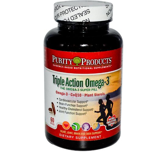 Purity Products - Triple Action Omega-3 Super Pill - [60 Soft Gels]