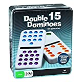 Cardinal Industries Double Fifteen Color Dot Dominoes in a Collectors Tin, Styles May Vary ~ Cardinal Industries