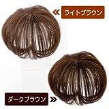 ヘアコサージュ[前髪ウィッグ カバー(頭頂部)](ライトブラウン)