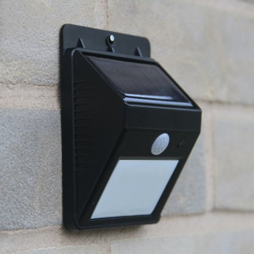 outdoor led wireless solar powered motion sensor light. Black Bedroom Furniture Sets. Home Design Ideas