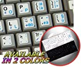 ITALIAN ENGLISH NON-TRANSPARENT KEYBOARD STICKERS ON WHITE BACKGROUND FOR NETBOOK