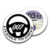 007 Licence to Drive Car Magnetic James Bond Tax Disc Holder Permit Holder Birthday Gift - Happy Bargains Ltd