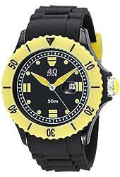 40Nine Men's 40NINE01/BLACK50 Extra Large 50mm Analog Display Japanese Quartz Black Watch