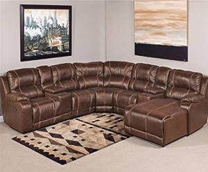 Amazon Laramie 7 Pc Leather Reclining Sectional