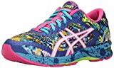ASICS Women's Gel-Noosa Tri 11 Running Shoe, Asics Blue/White/Hot Pink, 6 M US
