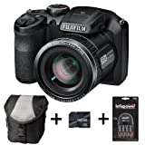 Fujifilm FinePix S4800 - Black + Case + 16GB Memory + 4 AA Batteries and Charger (16 MP, 30x Optical Zoom) 3.0 inch LCD