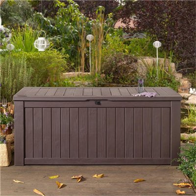Keter Jumbo Plastic Garden Storage Box - 570 Litre Capacity