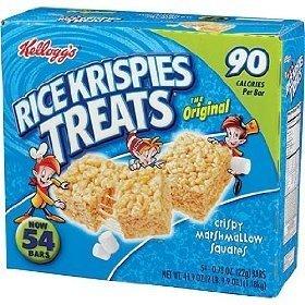 Kellogg's Rice Krispies Treats Original Crispy Marshmallow Squares .78 oz Bars - 54 Bars