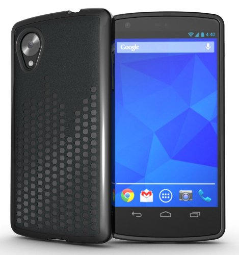 Tudia Ultra Slim Melody Tpu Bumper Protective Case For Lg Google Nexus 5 (Black)