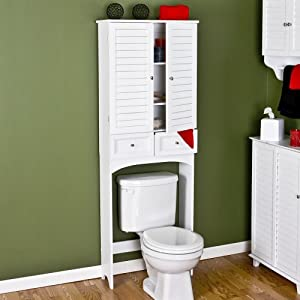 white bathroom over the toilet space saver bath towel