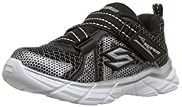 Skechers Kids Rive Dismiss 95243N Athletic Sneaker (Toddler), Black/Silver, 6 M US Toddler