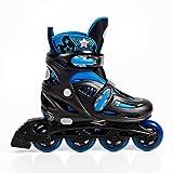High Bounce Rollerblades Adjustable Inline Skate (Blue, Large (6-9) ABEC 7)