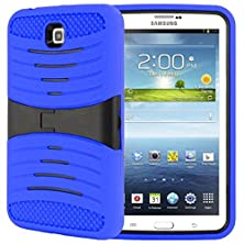 buy Galaxy Tab 3 7 Case, Kuteck Armor Shock Proof Case Light Weight Super Protection Cover With Stand Design For Samsung Galaxy Tab 3 7.0-Inch P3200 Tablet, Bouns 1X Stylus Pen (Navy Blue)