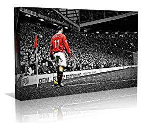 Ryan Giggs Manchester Utd. Framed Canvas Art Print - Contemporary Art - Football Art - Framed Ready to Hang - Buy two or more get Free UK Delivery - Oneblankwall , 20 inch x 24 inch