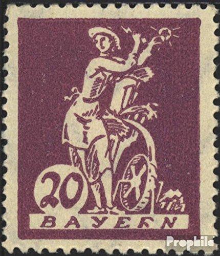 Bayern 181III R in BAYERN gebrochen postfrisch 1920 Abschiedsserie (Briefmarken für Sammler)