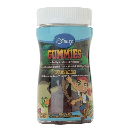 Disney Childrens Multivitamin And Mineral, Jake And The Neverland Pirates Gummies, 60 Ea (2-Pack)
