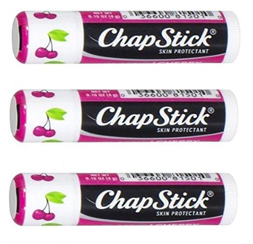 ChapStick Lip Balm, Classic Cherry, SPF 4, 3 - 0.15 oz stick